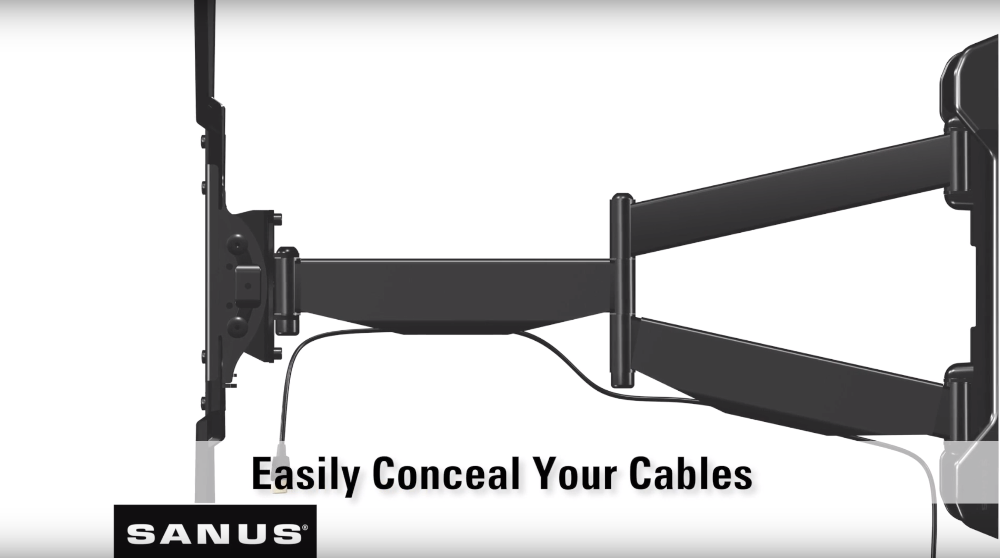 Conceal Cables on Full Motion TV Mount