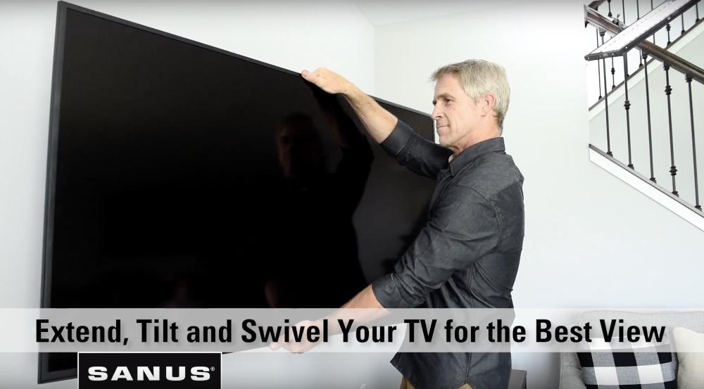 Extend Tilt and Swivel Full Motion TV Mount
