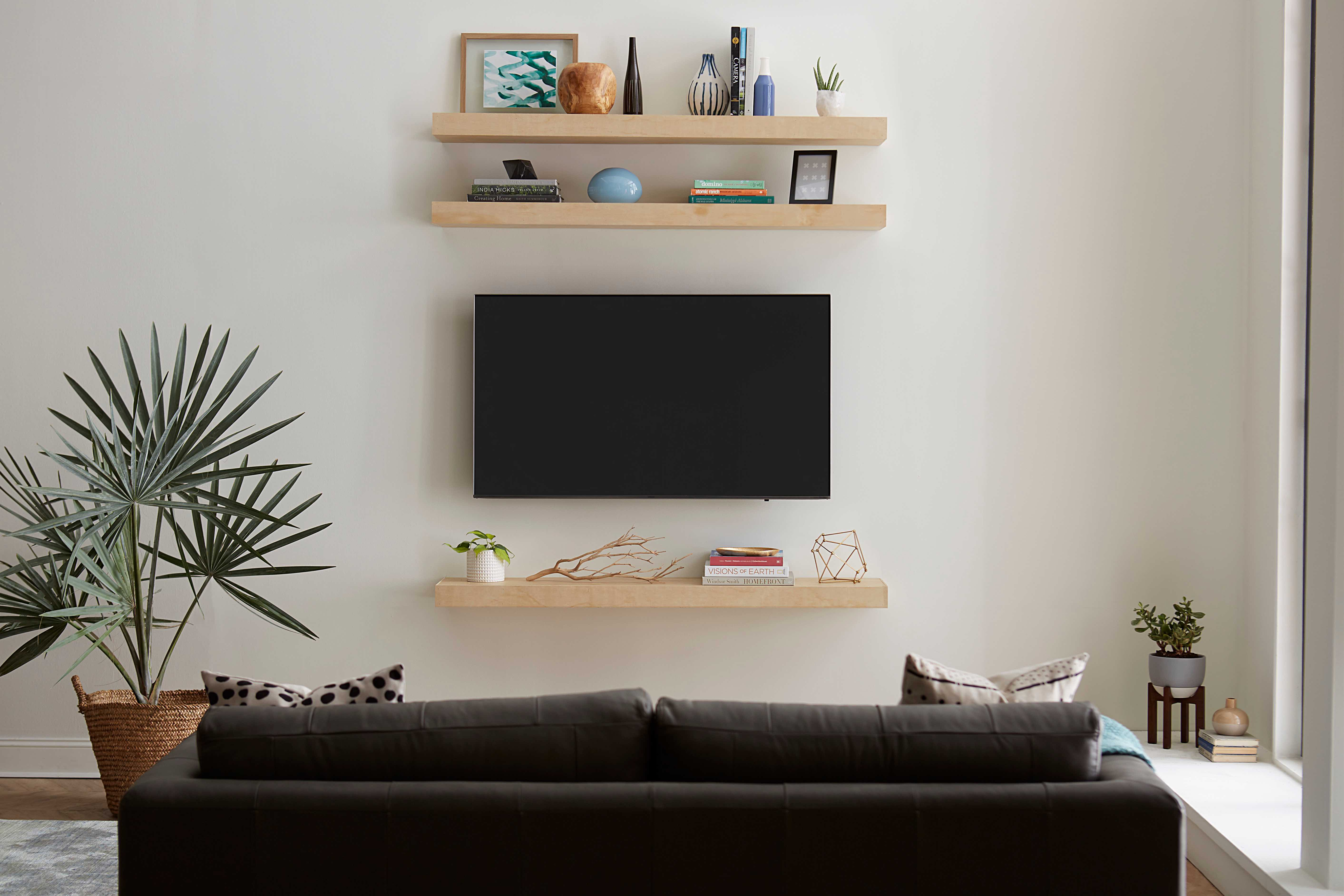Floating Shelves Around TV