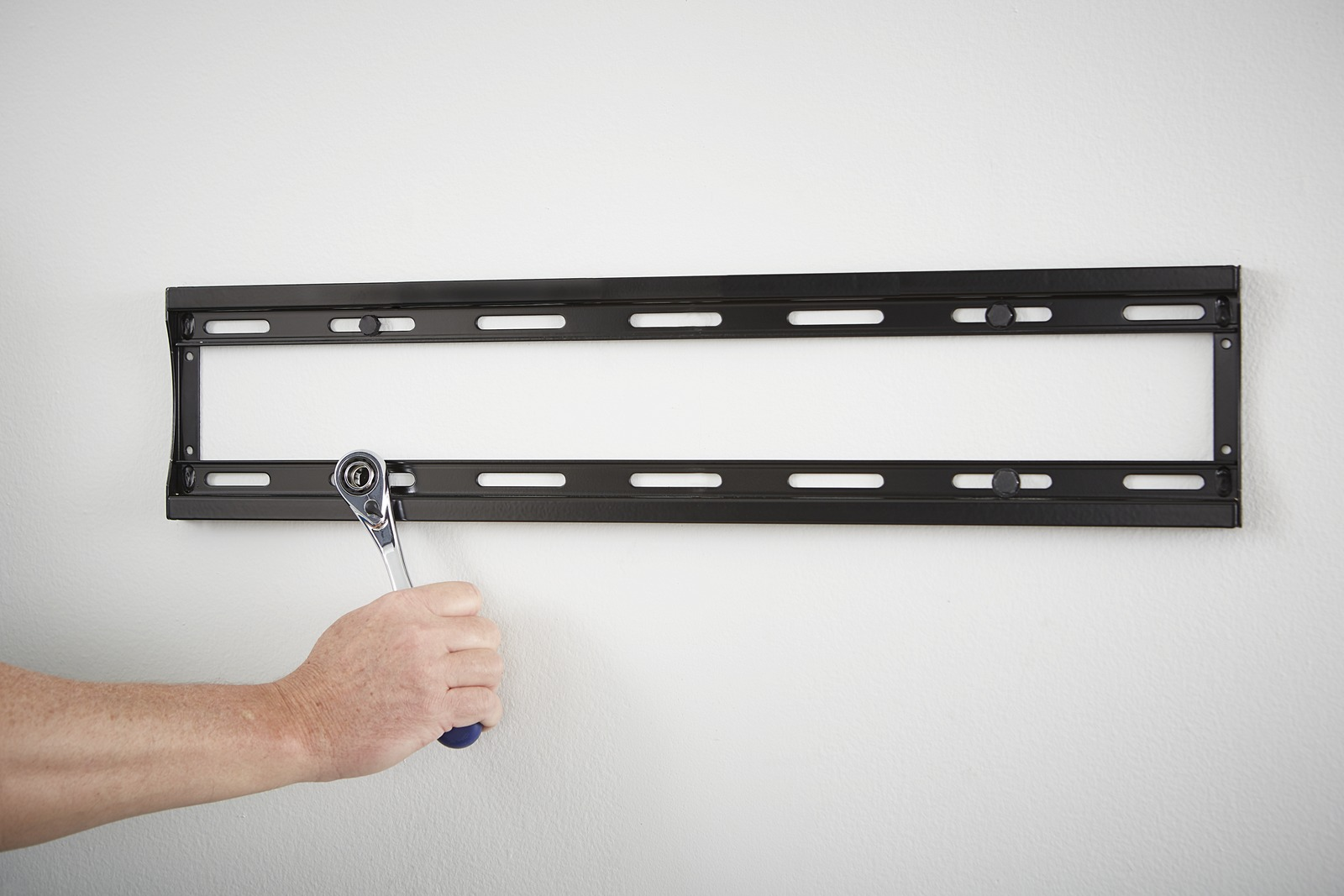 Mounting a TV - Attach Wall Plate to Wall