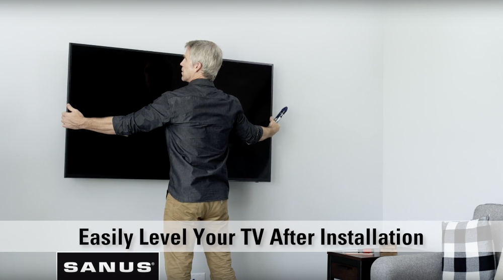 Post Installation Leveling of Mounted TV