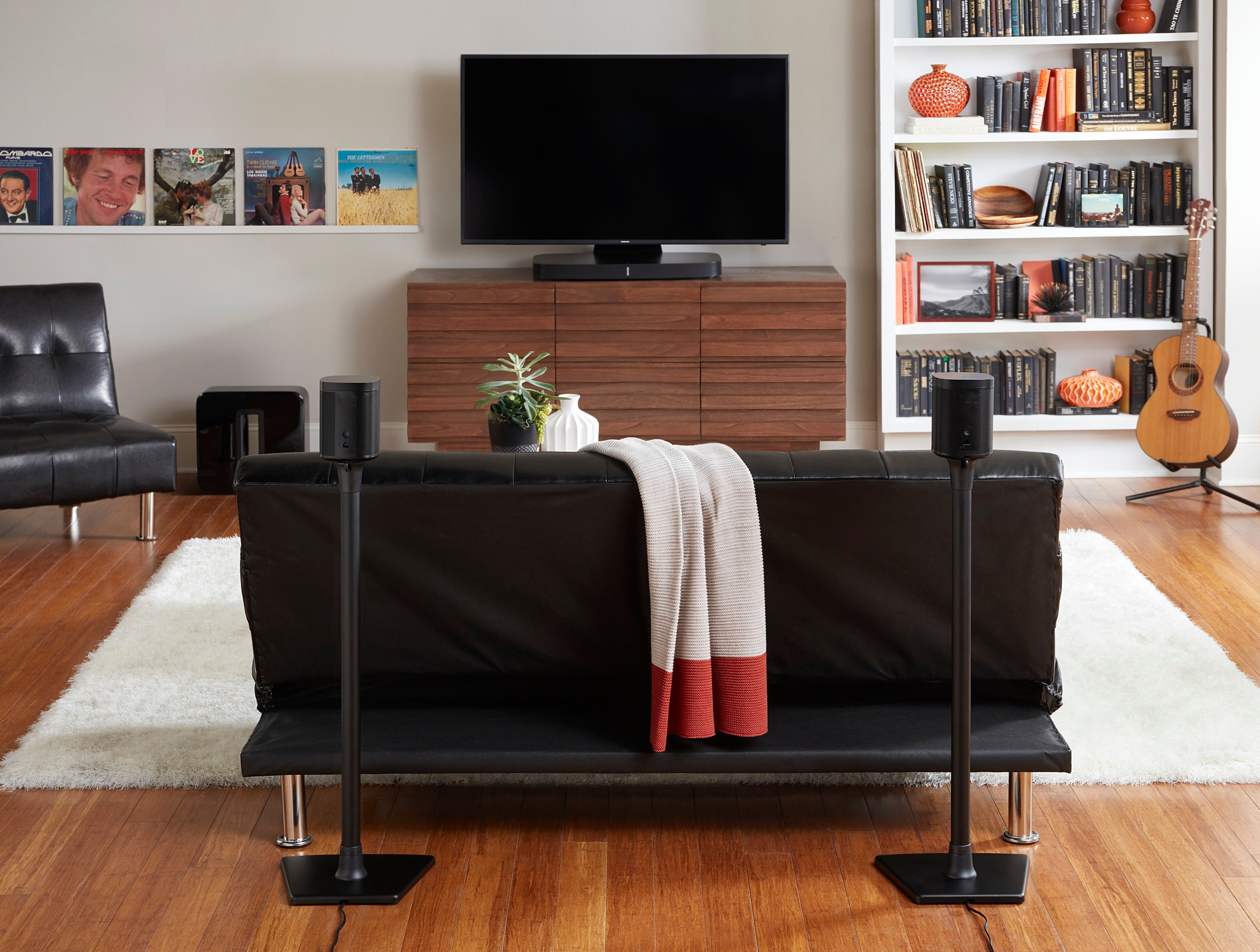 Sonos 5.1 Surround Sound with SANUS Speaker Stands